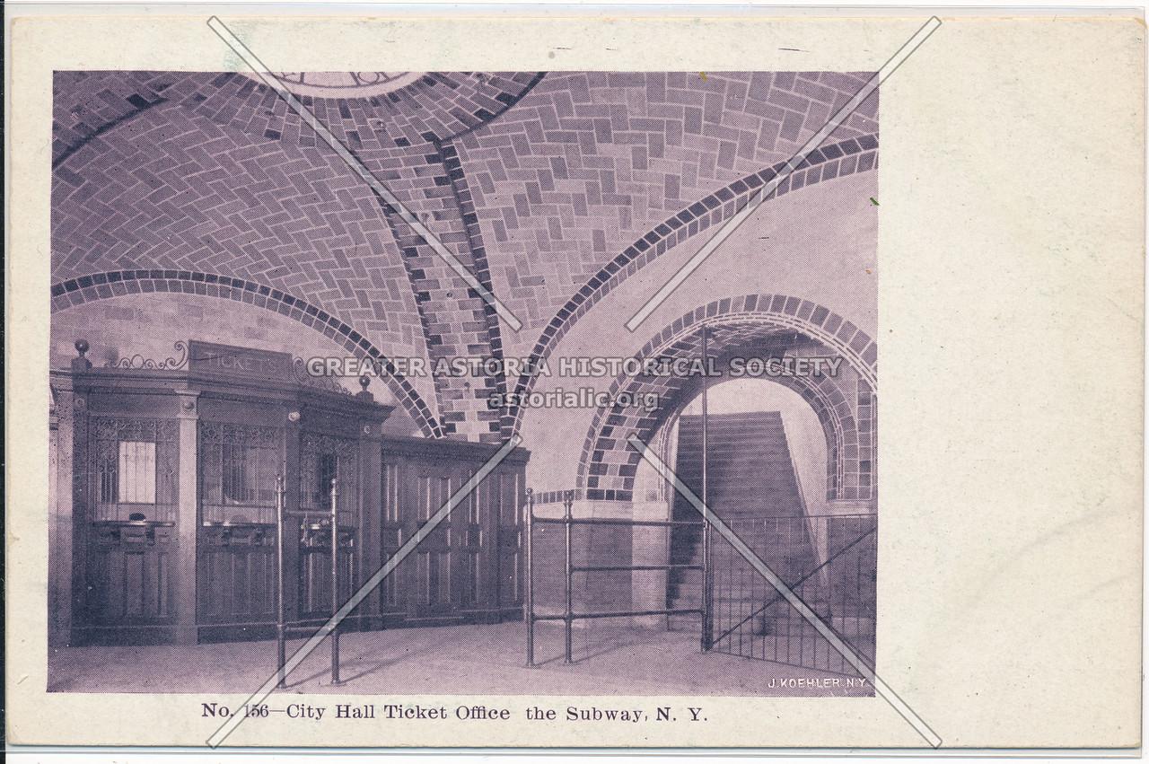 City Hall Ticket Office at the New York City Subway