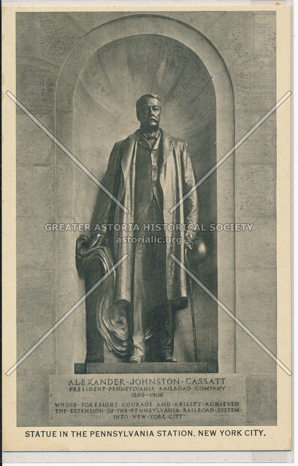 Statue in the Pennsylvania Station of Alexander Johnston Cassatt, NYC