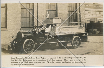 Mack Motorized Fire Engines for the New York City Fire Department