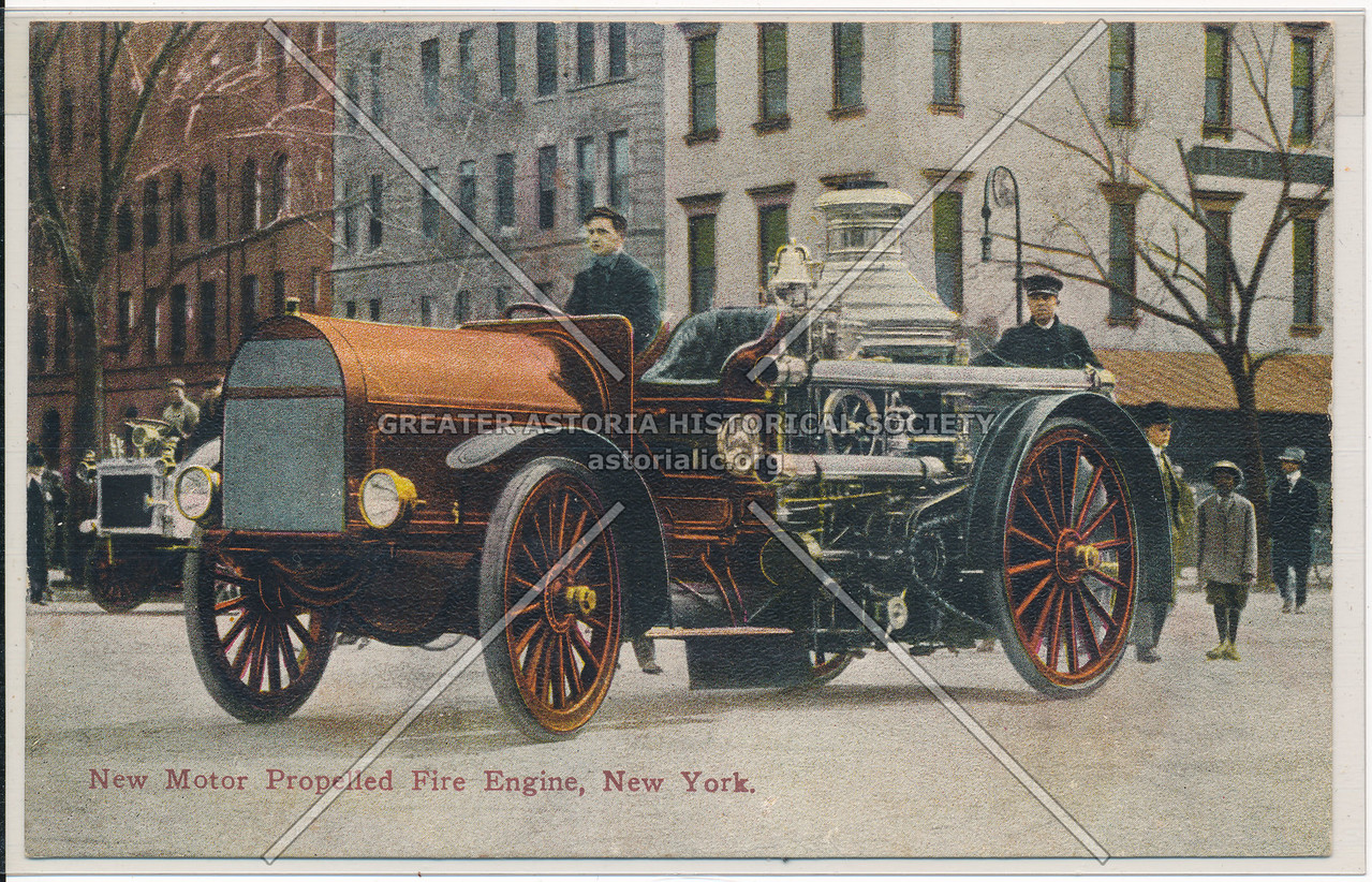 New Motor Propelled Fire Engine, New York City
