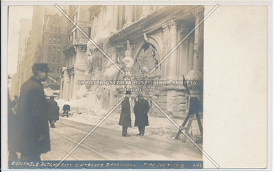 Equitable Building, Broadway Entrance After Fire, New York City