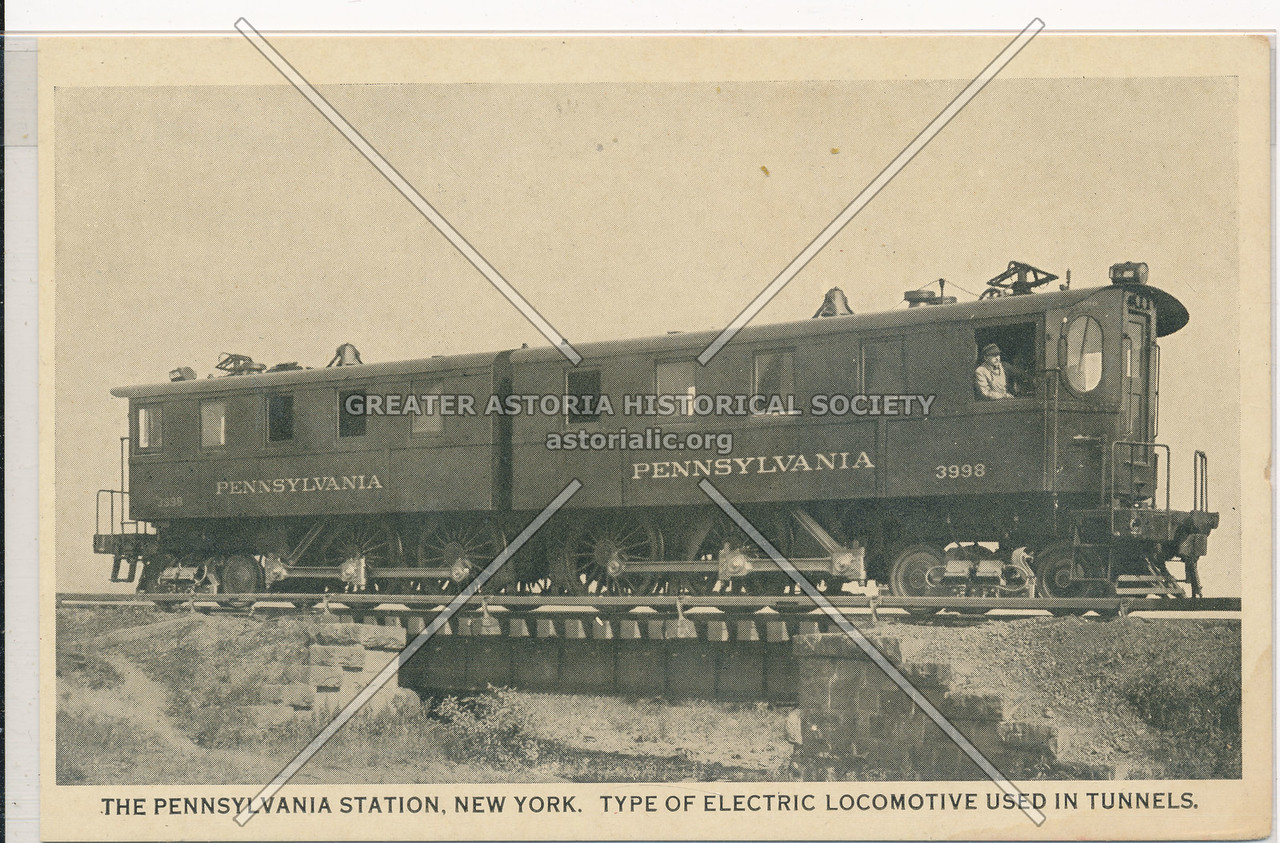 Type of Electric Locomotive Used in Tunnels at the Pennsylvania Station, NYC