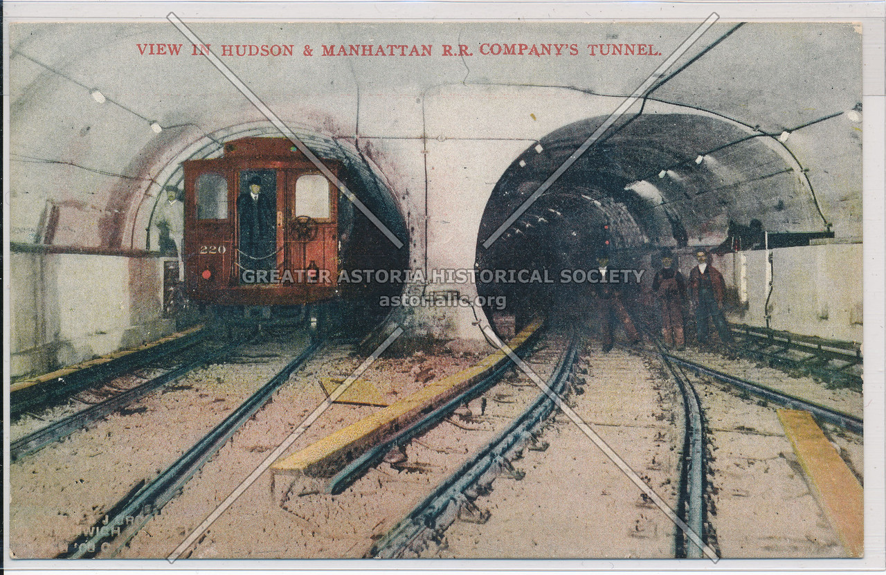View in Hudson and Manhattan Railroad Company's Tunnel