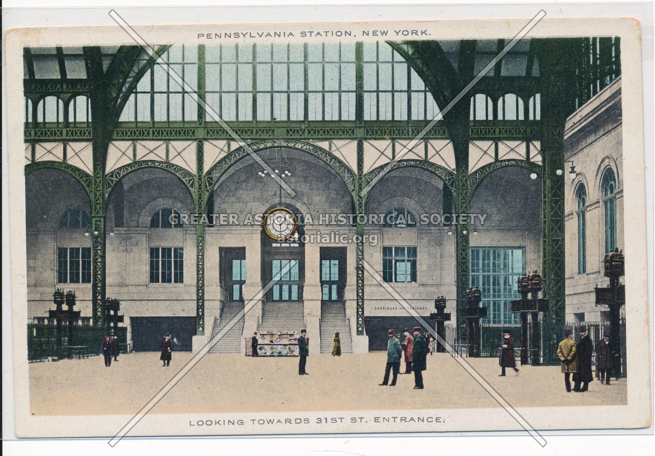 Looking Towards 31st Street Entrance, Pennsylvania Station, New York City