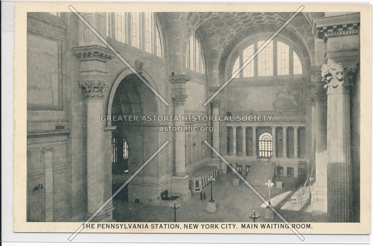 Main Waiting Room of the Pennsylvania Station, NYC
