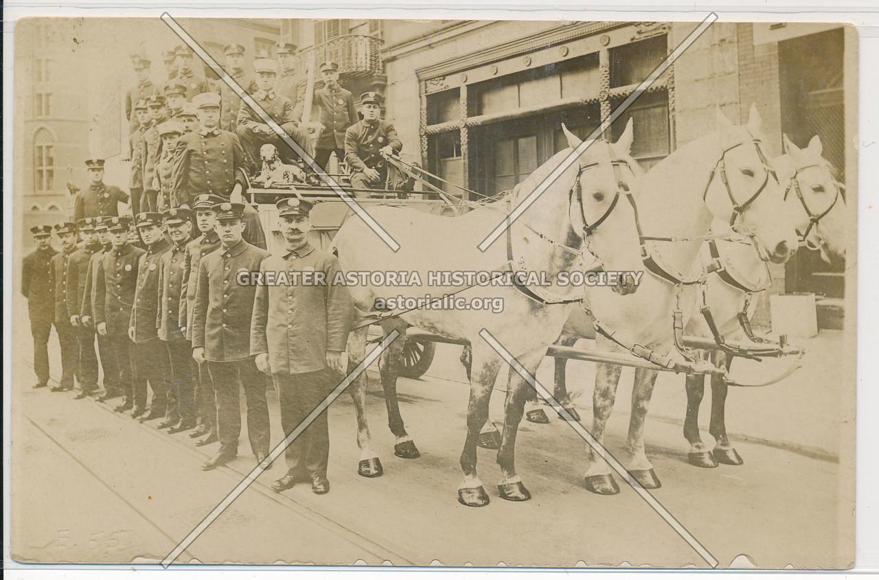 Horse-Drawn Fire Brigade, New York City