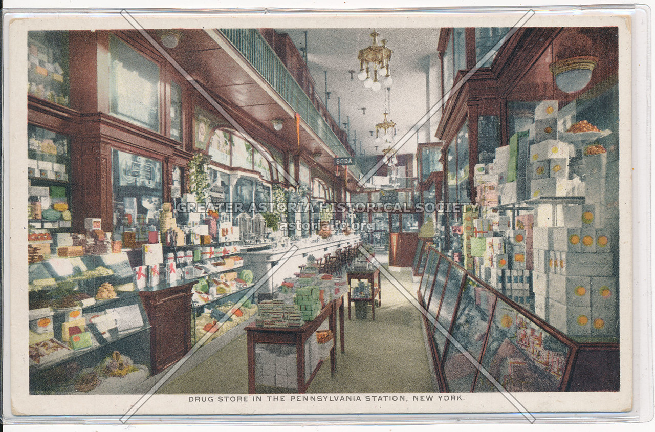 Drug Store in the Pennsylvania Station, NYC