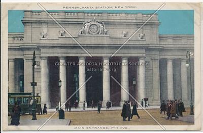 Main Entrance at 7th Avenue, Pennsylvania Station, New York City