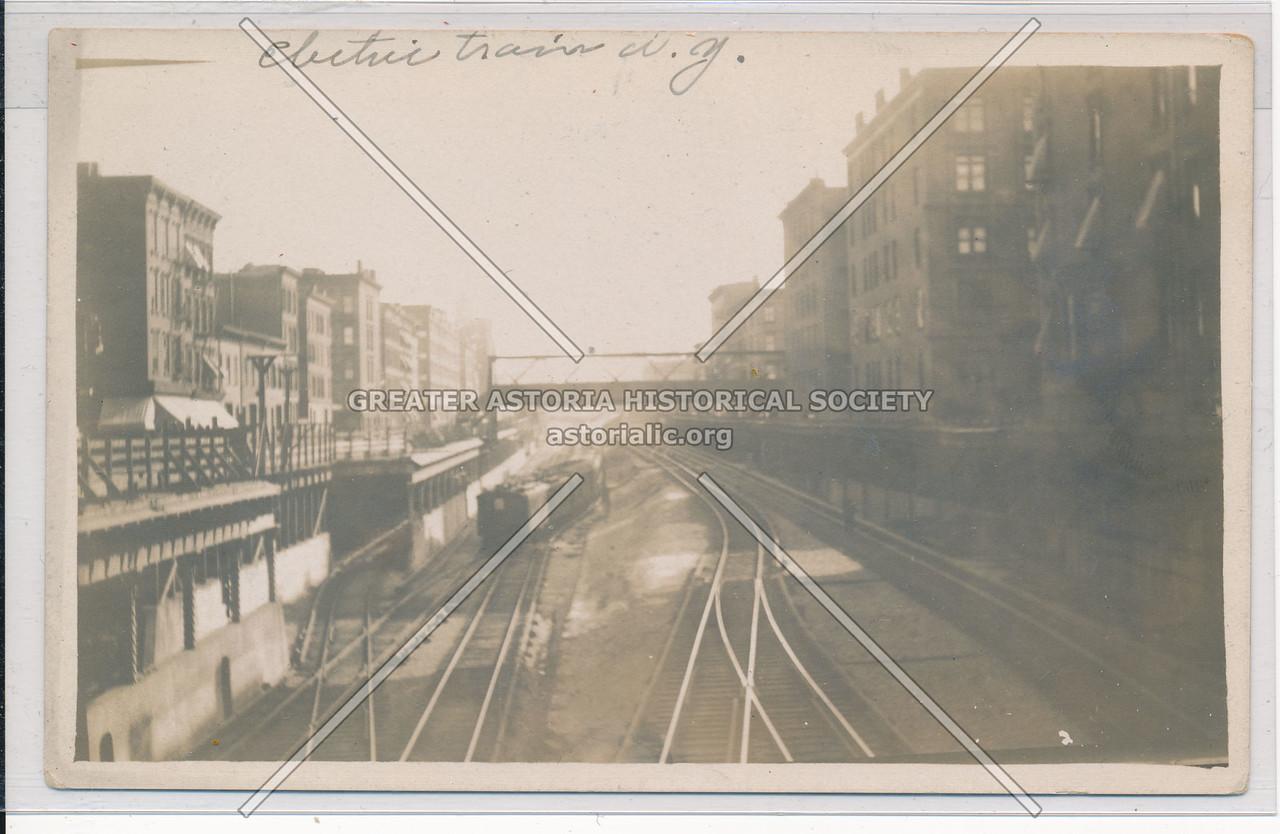 Electric Train Wagon and Tracks, NYC