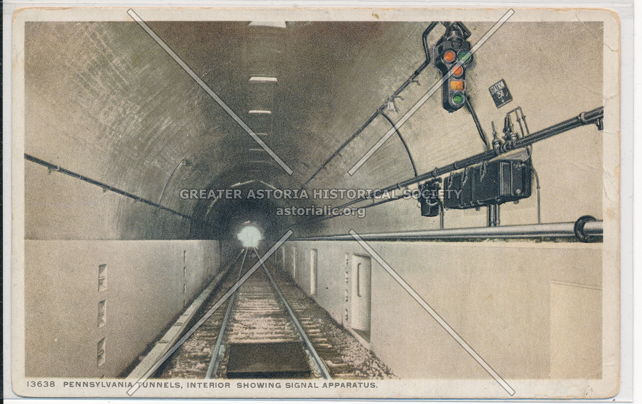 Pennsylvania Tunnels, Interior Showing Signal Apparatus, NYC