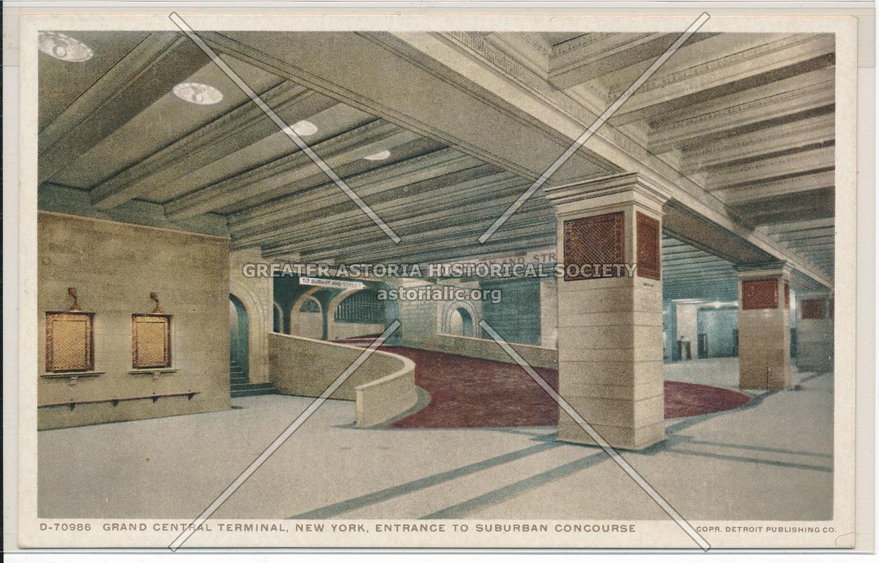 Entrance to Suburban Concourse, Grand Central Terminal, NYC