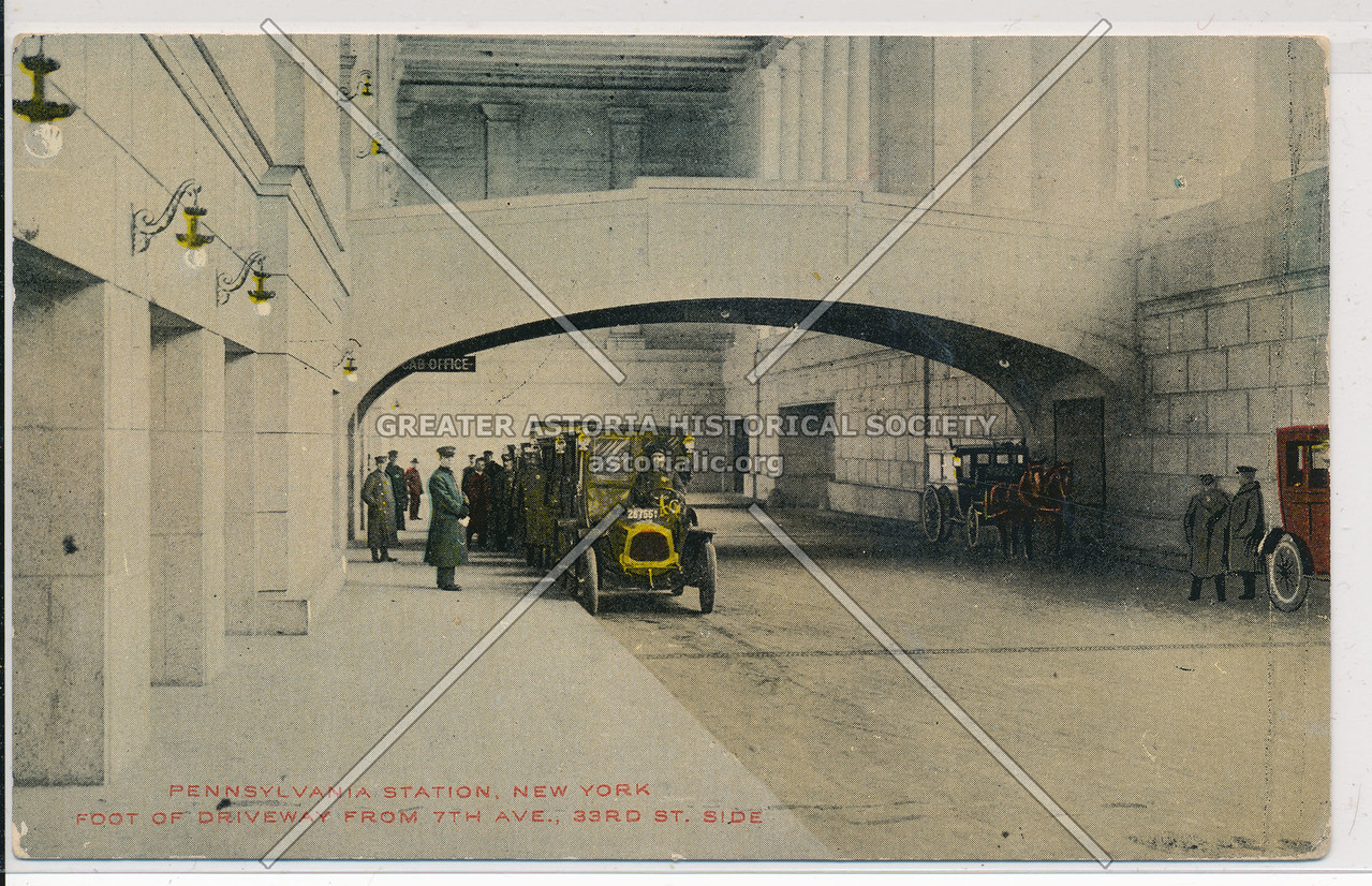 Foot of Driveway from 7th Avenue and 33rd Street Side, Pennsylvania Station, NYC
