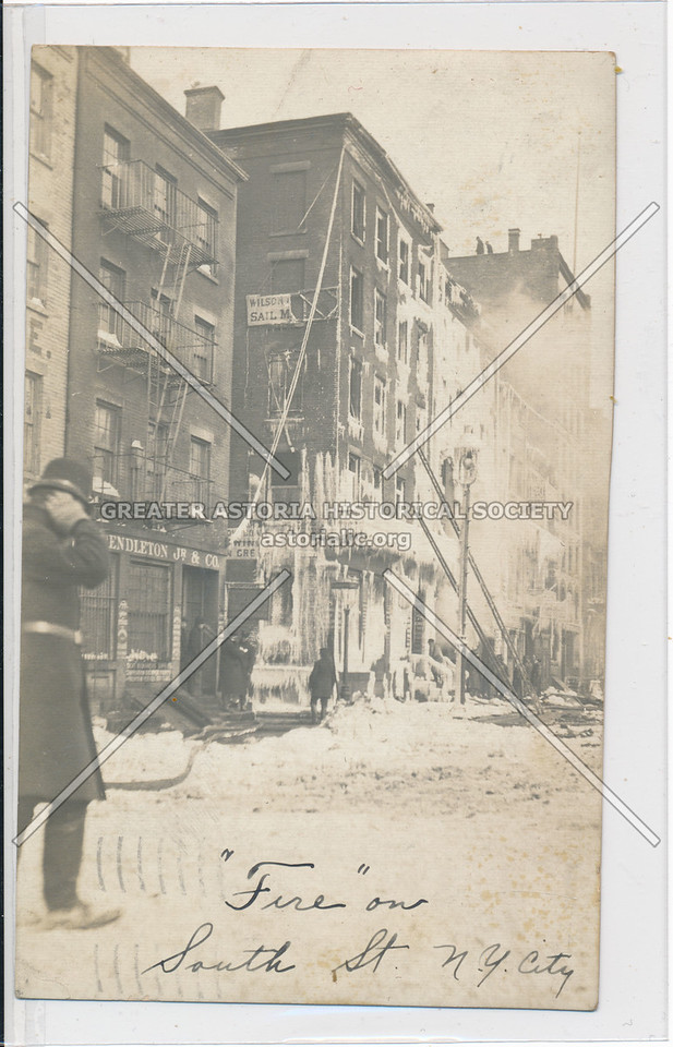 Fire on South Street, New York City