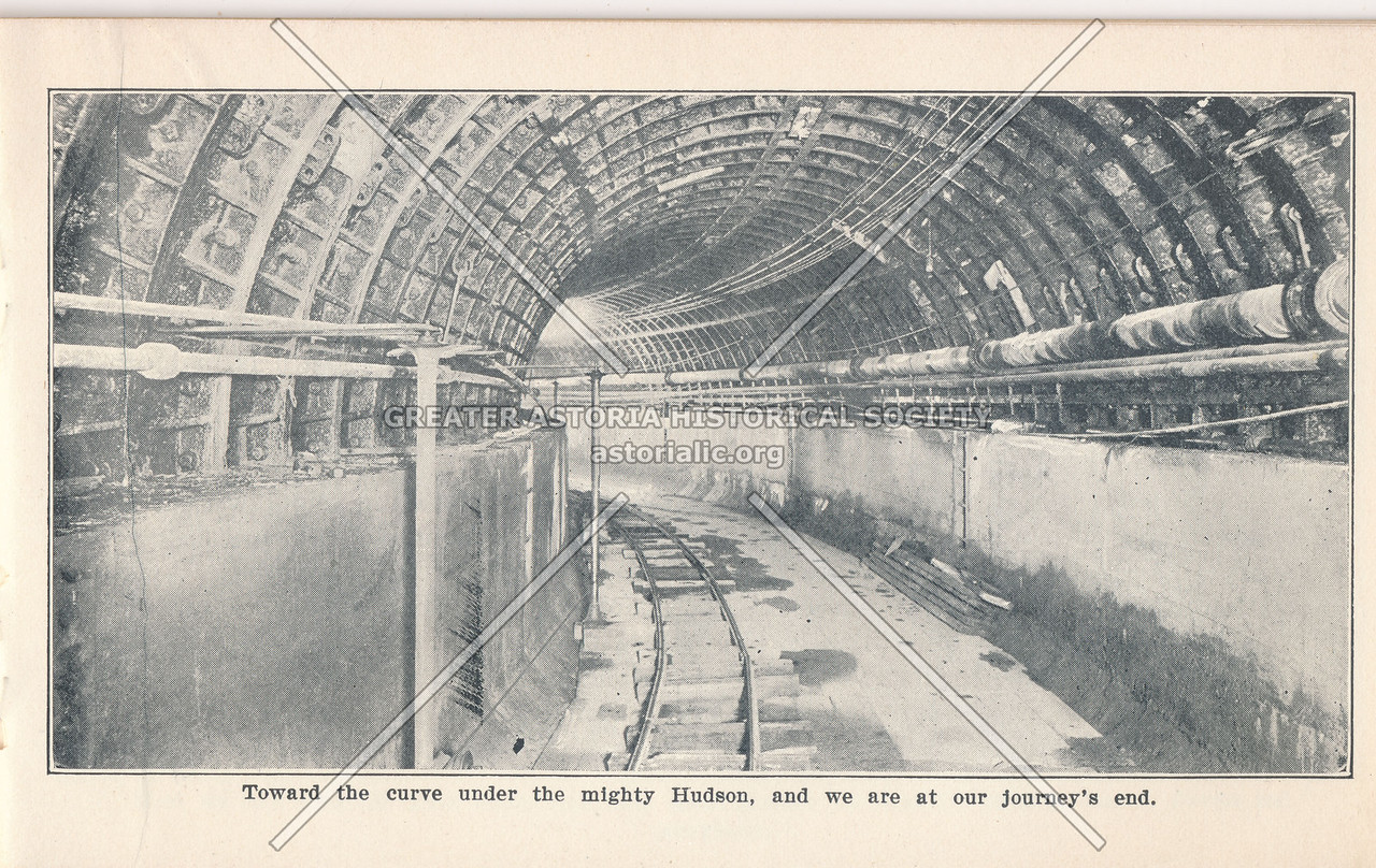 McAdoo System Railway Curve Under the Hudson River