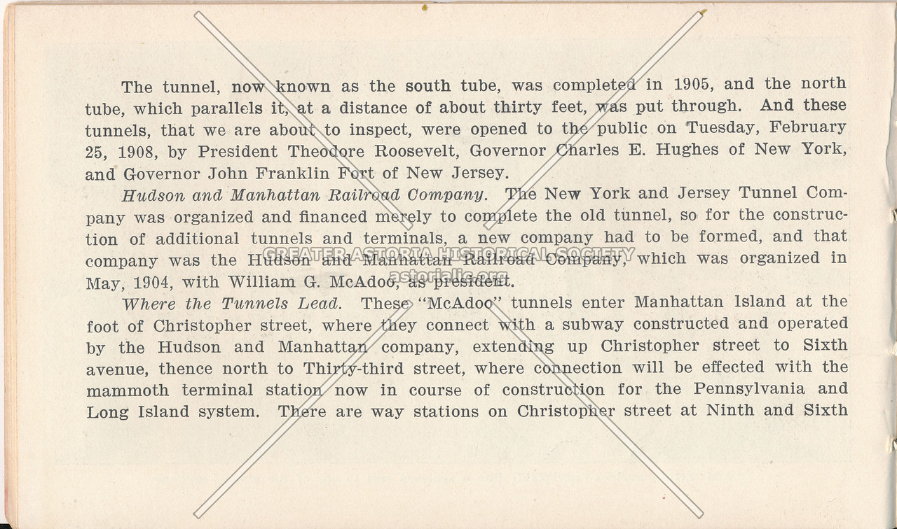 McAdoo System Pamphlet and the Hudson and Manhattan Railroad Company
