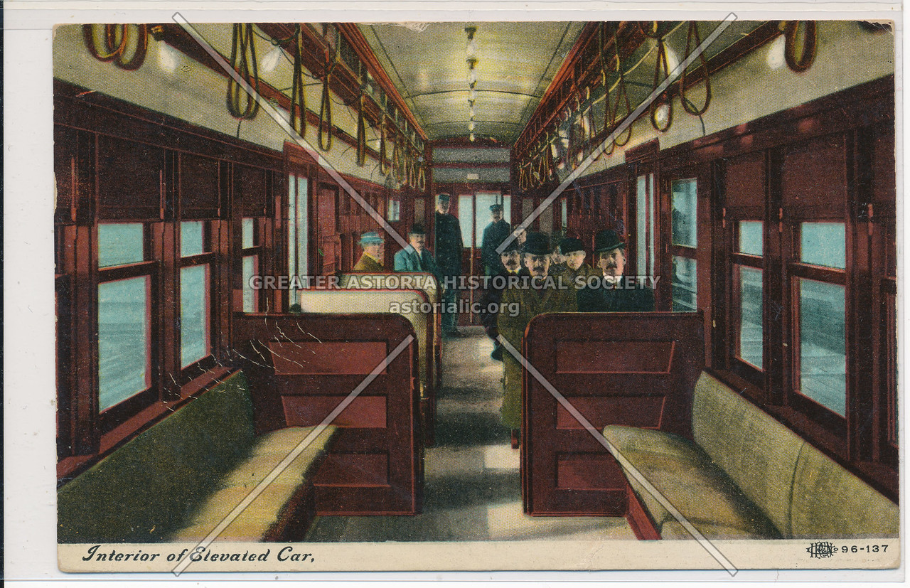 Interior of Elevated Car, NYC