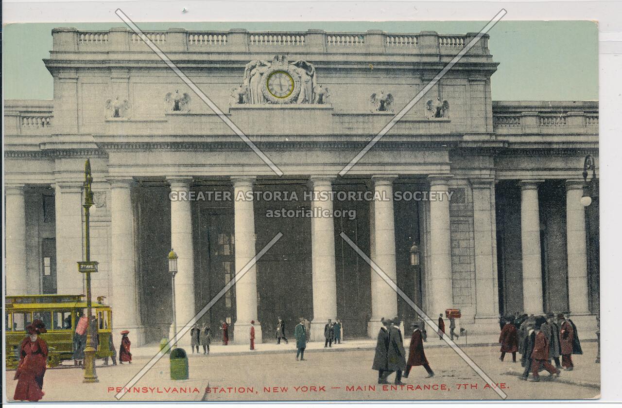 Main Entrance at 7th Avenue, Pennsylvania Station, NYC