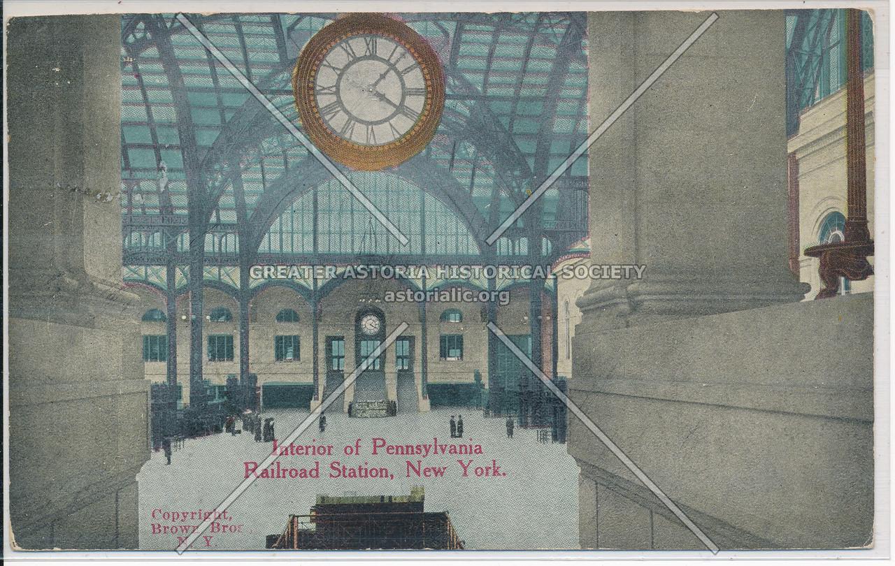 Interior of Pennsylvania Railroad Station, NYC