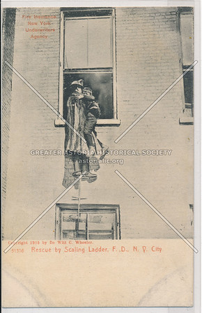Rescue by Scaling Ladder, Fire Department of New York City