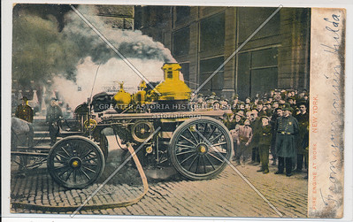 Fire Engine at Work, New York City Fire Brigade