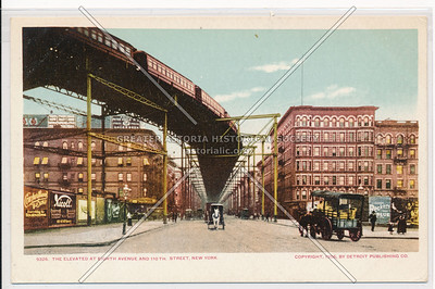8th Ave & 110 St Elevated Train Curve, NYC