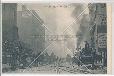Fire Scene and New York City Fire Brigade