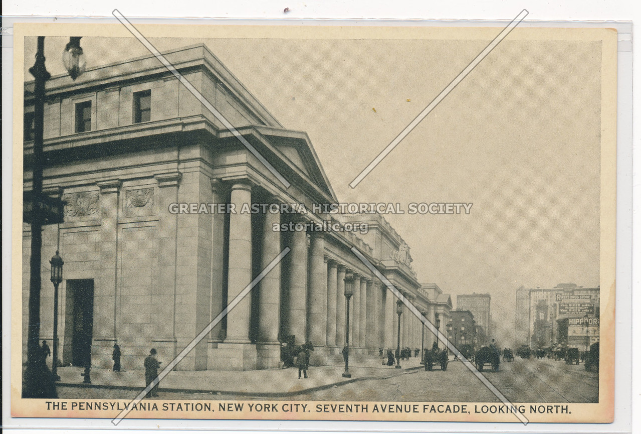 The Pennsylvania Station, 7th Avenue Facade, Looking North, NYC