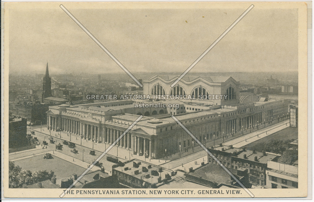 General View of the Pennsylvania Station, NYC