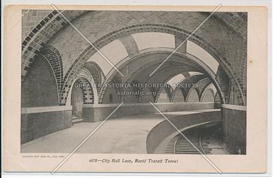 City Hall Loop, Rapid Transit Tunnel, NYC
