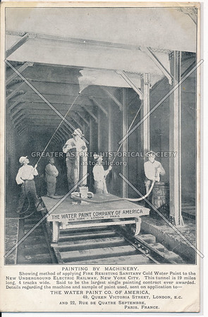 The Water Paint Company of America painting New Underground Electric Railway