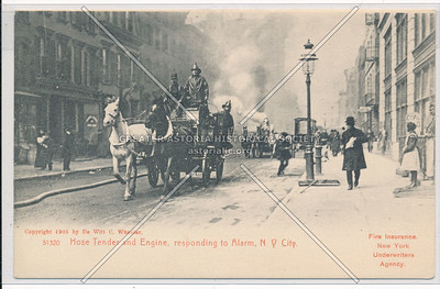 Hose Tender and Engine Responding to Alarm, Fire Department of New York City