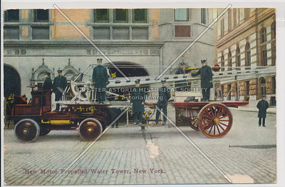 New Motor Propelled Water Tower, NYC Fire Brigade