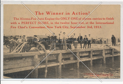 Ahrens-Fox Auto Engine at the International Fire Chief's Convention, September 1913, NYC