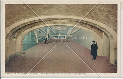 Incline to Suburban Concourse, Grand Central Terminal, NYC