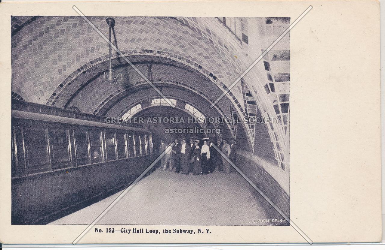 City Hall Loop, the Subway, New York City