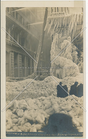 Equitable Building After Fire, January 1912, Corner of Broadway and Cedar Street, New York City