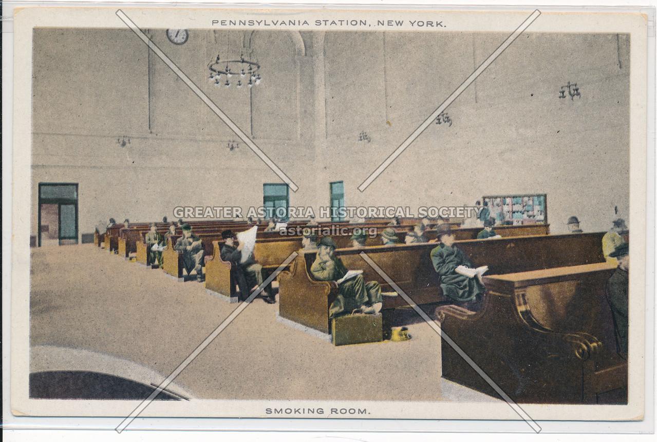 The Smoking Room at the Pennsylvania Station, New York City