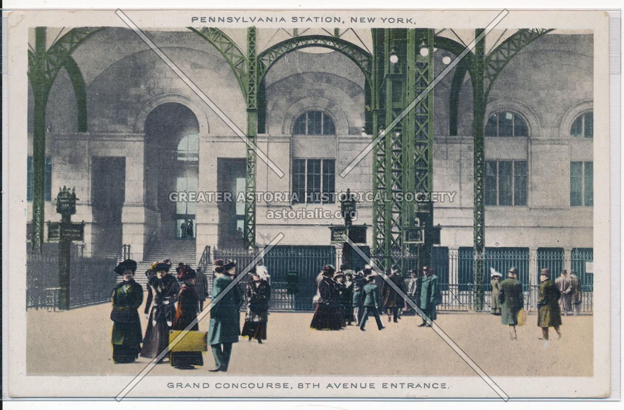 Grand Concourse, 8th Avenue Entrance, Pennsylvania Station, NYC