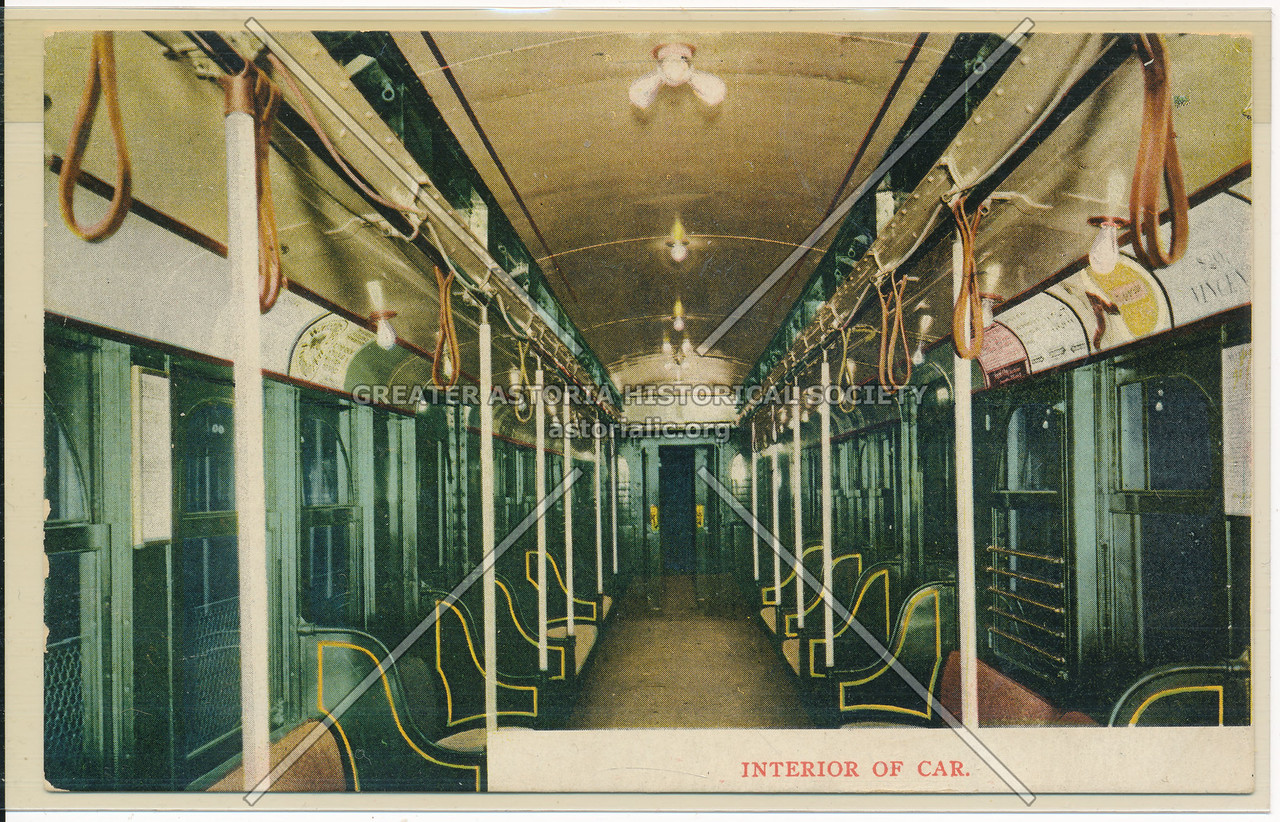 Interior of Car of the New York and New Jersey Tunnel