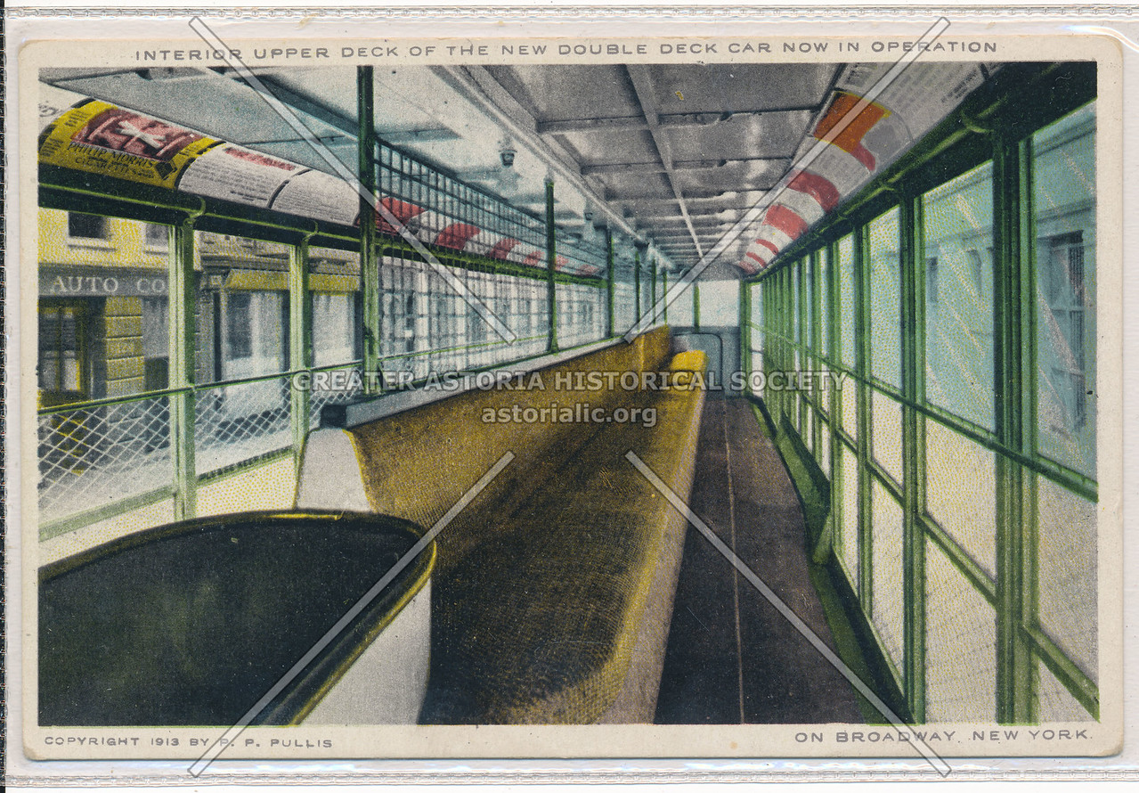 Interior Upper Deck of the Double Deck Car, NYC