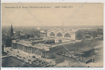 Pennsylvania Railroad Station, 33rd Street and 7th Avenue, NYC