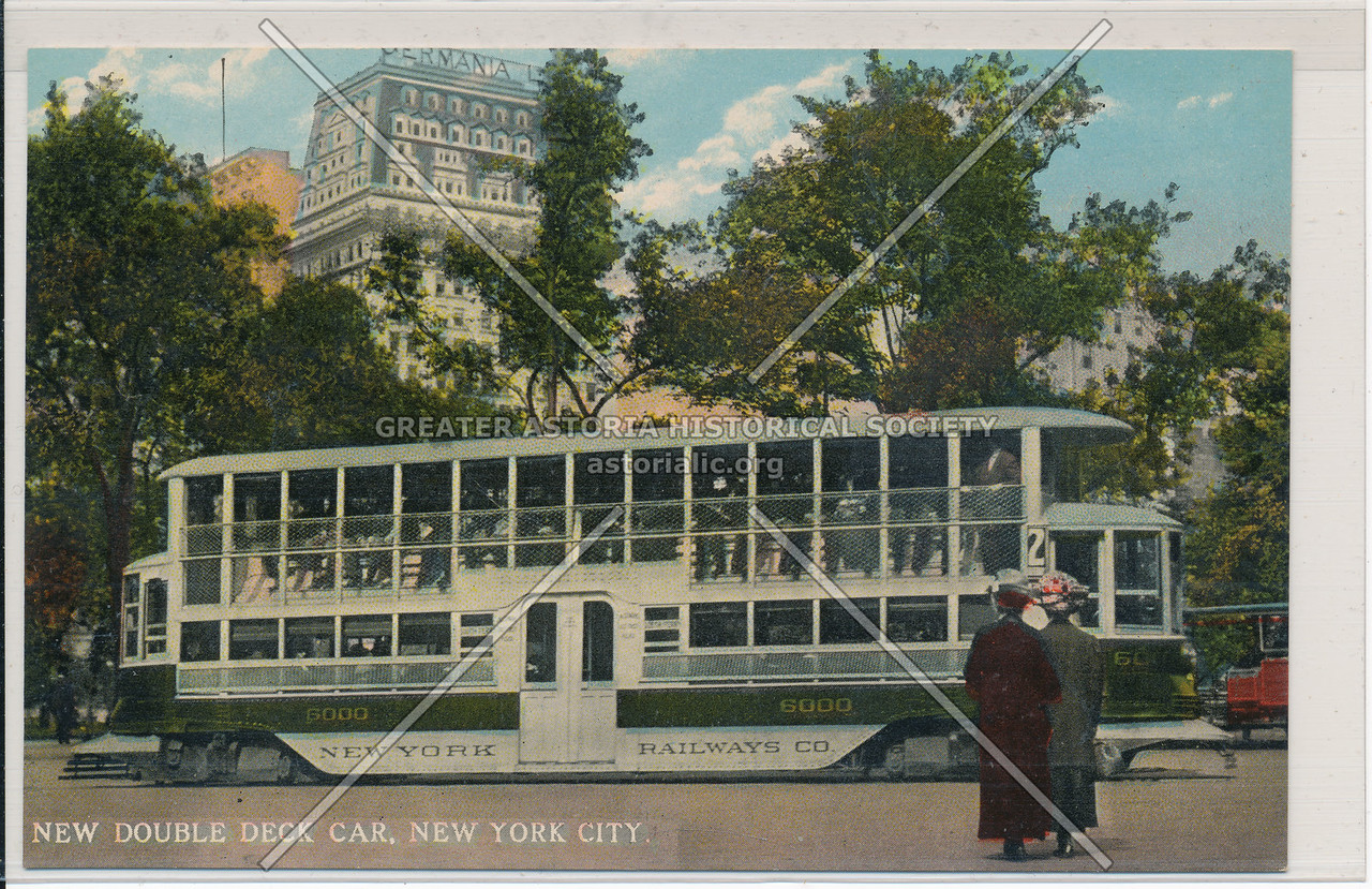 New Double-Deck Car, New York City