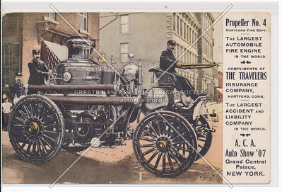 The Largest Automobile Fire Engine in the World, A.C.A. Auto Show, NYC