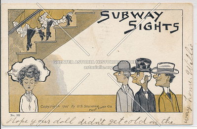 """Subway Sights"" Souvenir Post Card, NYC"