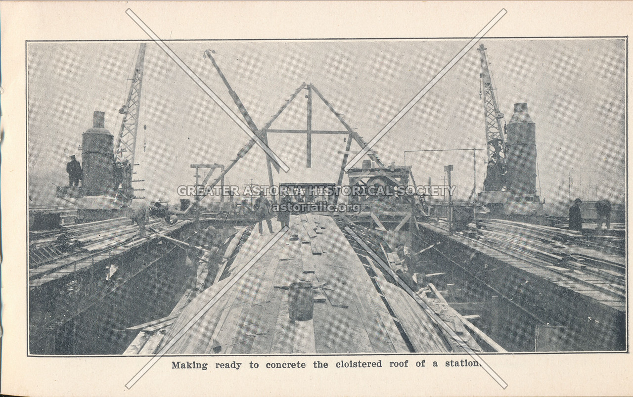 McAdoo System Construction of Station Roof