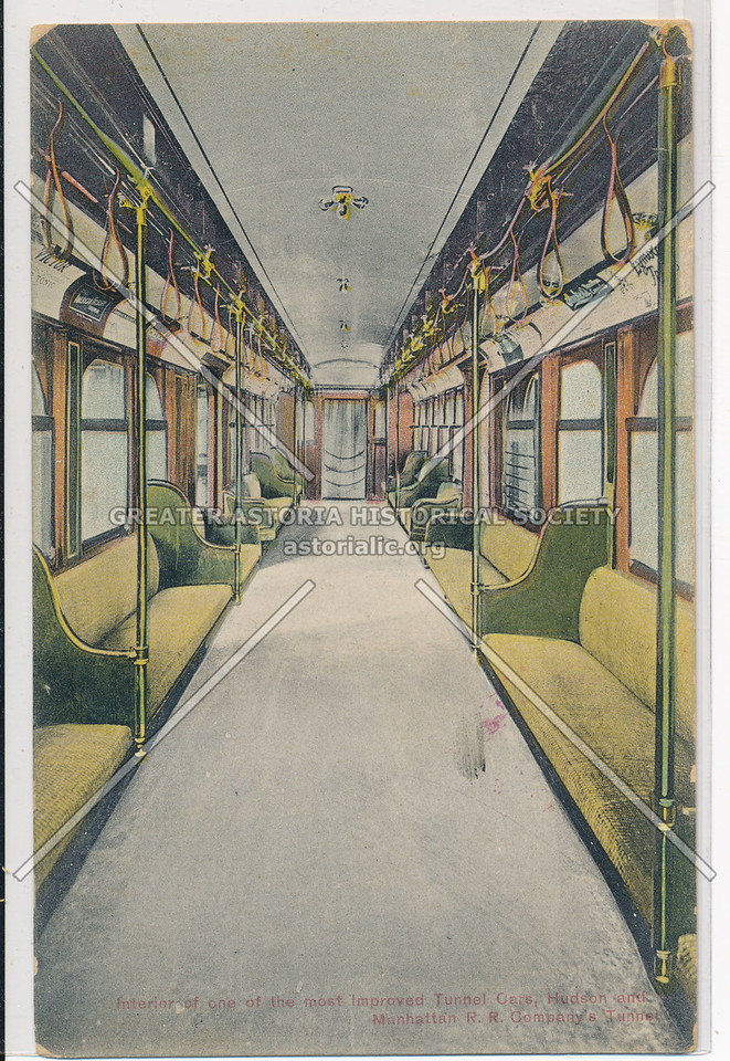 Interior of One of the Most Improved Tunnel Cards, Hudson and Manhattan Railroad Company's Tunnel