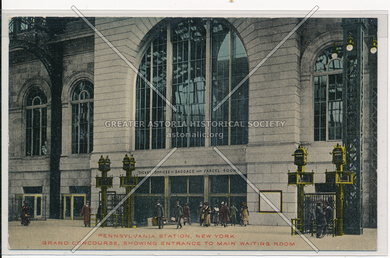 Grand Concourse, Showing Entrance to Main Waiting Room, Pennsylvania Station, NYC