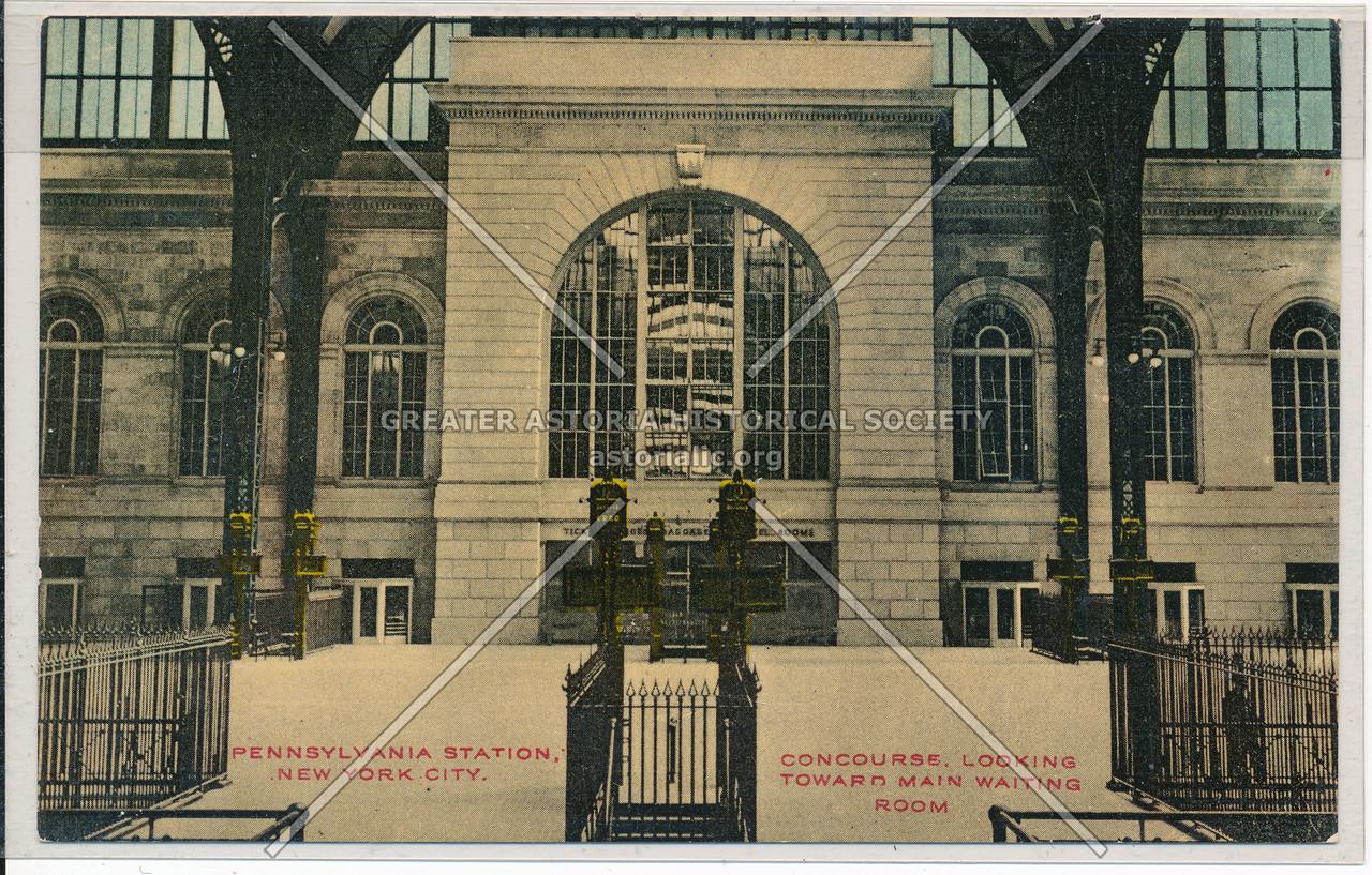 Concourse, Looking Toward Main Waiting Room, Pennsylvania Station, NYC