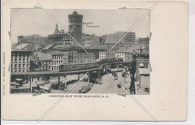 Coenties Slip & Elevated Train, NYC