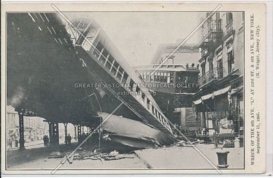 "Wreck of the ""L"" Train at  9th Ave & 53 St, NYC (09/11/05)"